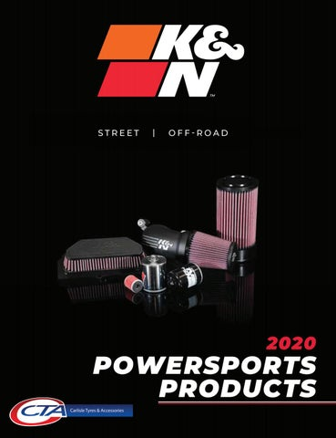 """Cover of """"K&N POWERSPORTS CATALOGUE  - CTA 2020"""""""