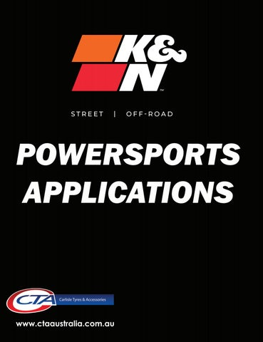 """Cover of """"K&N POWERSPORTS - CTA 2021 APPLICATION BOOK"""""""