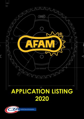 """Cover of """"AFAM SPROCKETS APPLICATION - CTA 2021"""""""