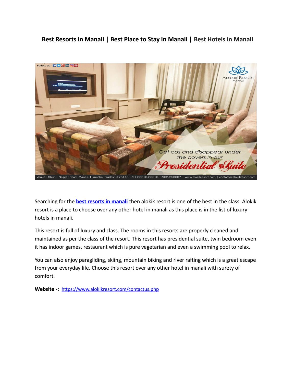 Best Resorts in Manali | Best Place to Stay in Manali - Alokik Resort