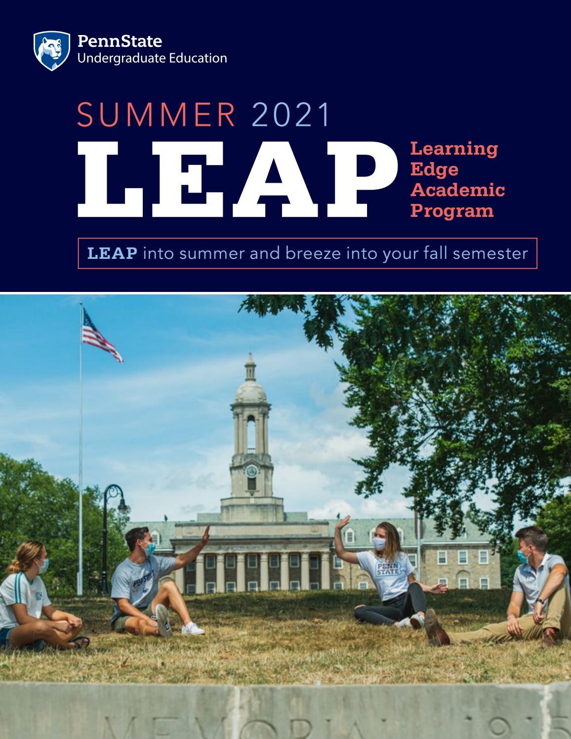Psu Academic Calendar 2022.Learning Edge Academic Program Leap By Penn State Undergraduate Admissions Issuu
