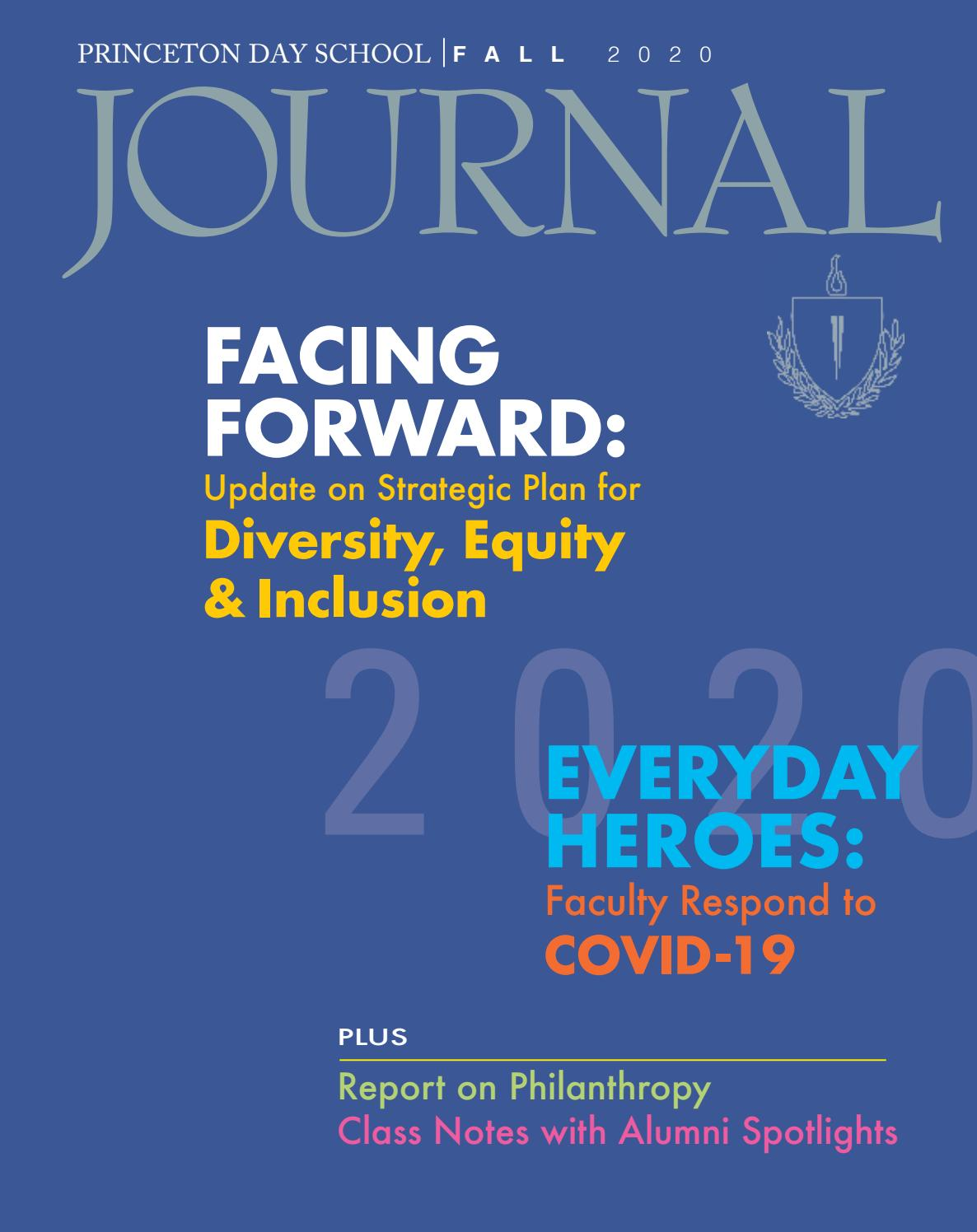 Pds Fall Journal 2020 By Princeton Day School Issuu