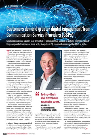 Customers demand greater digital engagement from Communication Service Providers (CSPs)
