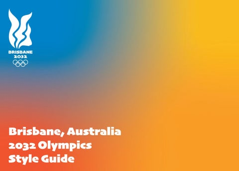 """Cover of """"2032 Brisbane Olympics Graphic Standards Manual"""""""