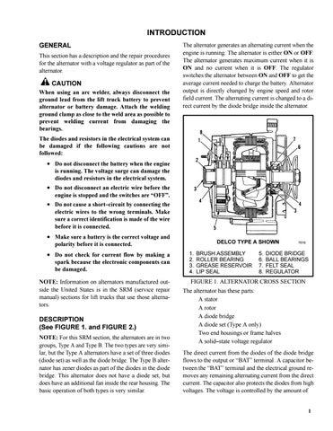 Hyster Forklift H70XL-H110XL(F005) service manual by heydownloads - issuu | Hyster Voltage Regulator Wiring Diagram |  | Issuu