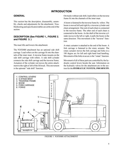 Hyster Forklift N30XMH service manual by heydownloads - issuu | Hyster Monitor Wiring Diagram |  | Issuu