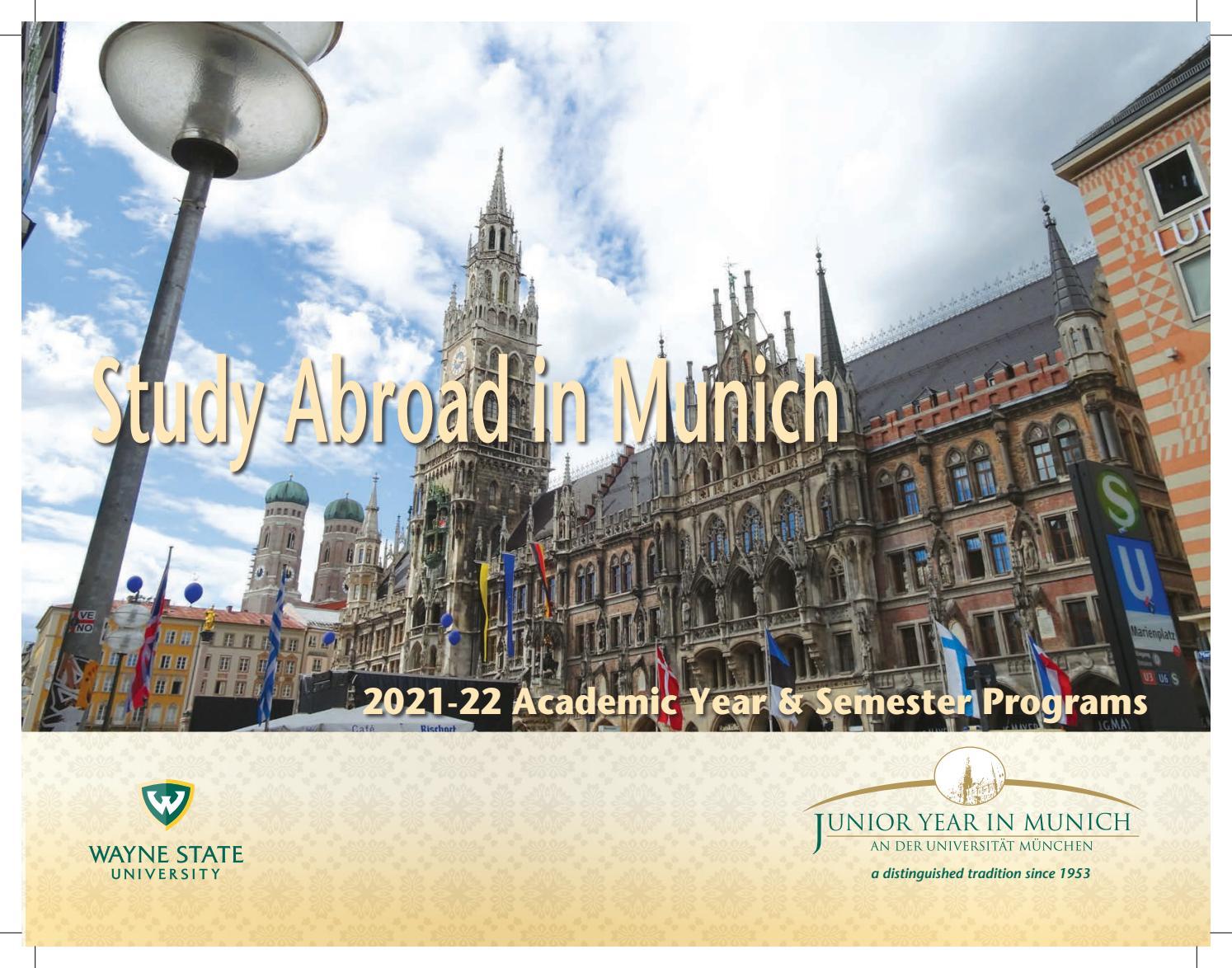 Lmu Academic Calendar 2022.2021 2022 Jym Brochure By Junior Year In Munich Issuu