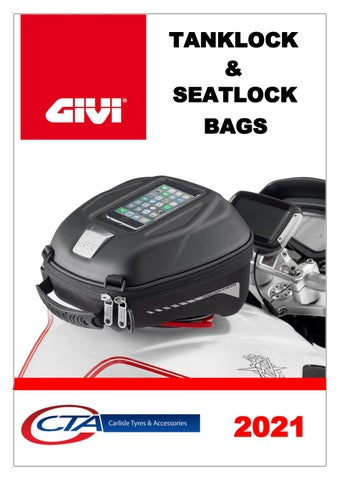"Cover of ""GIVI TANKLOCK & SEATLOCK BAGS CATALOGUE CTA 2021"""
