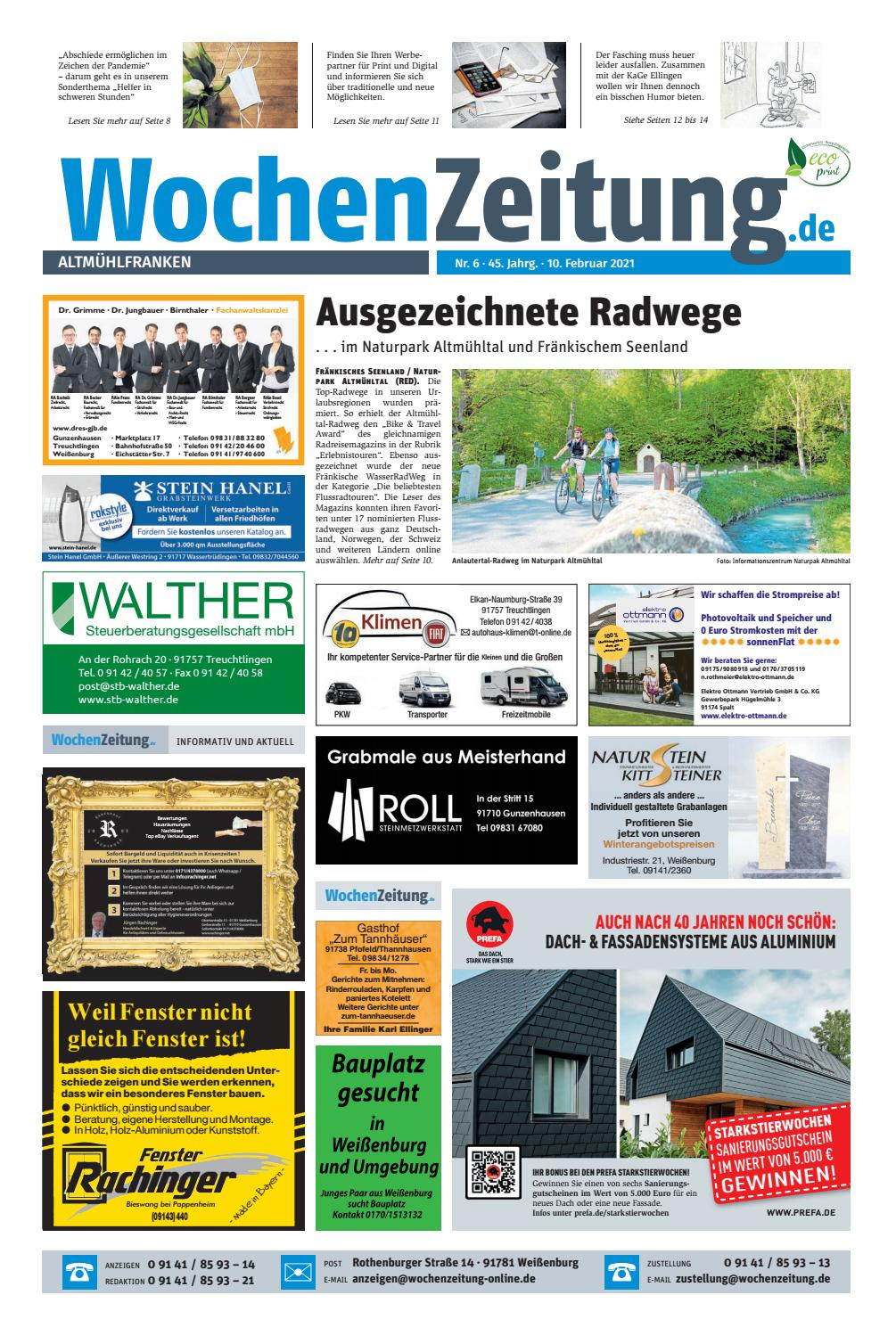 WochenZeitung Altmühlfranken 20.20 by wochenzeitung online   issuu