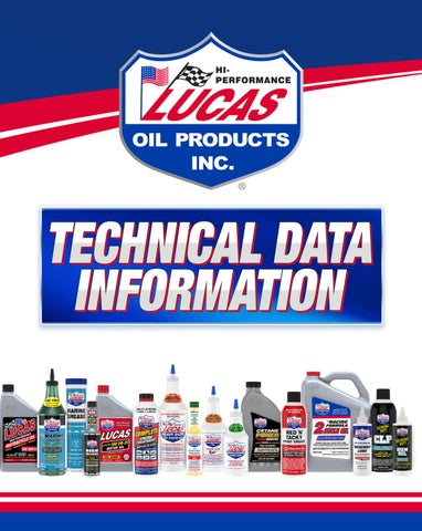 """Cover of """"LUCAS OIL TECHNICAL DATA INFORMATION BOOK"""""""
