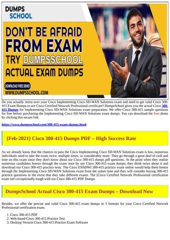 Dumpsschool Cisco Questions Pdf 2021 By Elexajoni222 Issuu