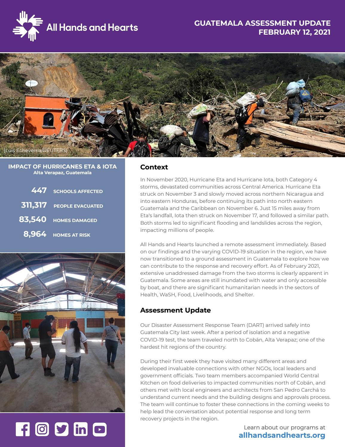 Ahah Guatemala Assessment Update 1 By All Hands And Hearts Issuu