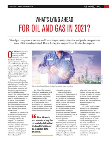 What's lying ahead for the oil and gas in 2021?