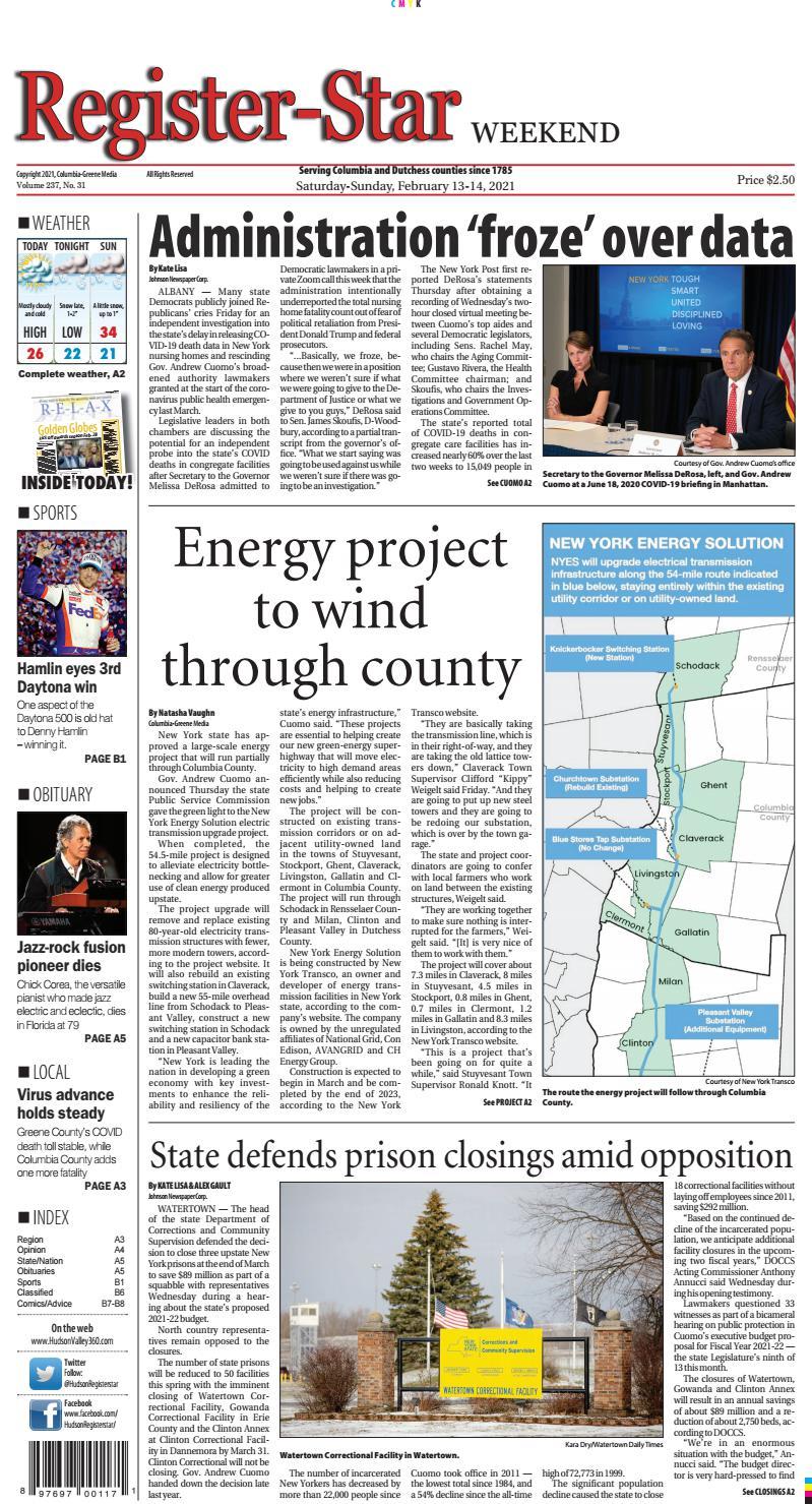 E Edition Register Star February 13 14 2021 By Columbia Greene Media Issuu