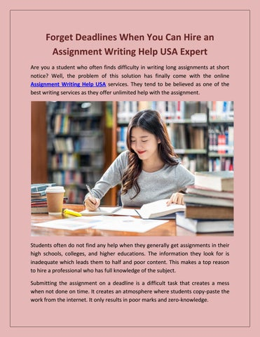 professional assignment writers websites usa