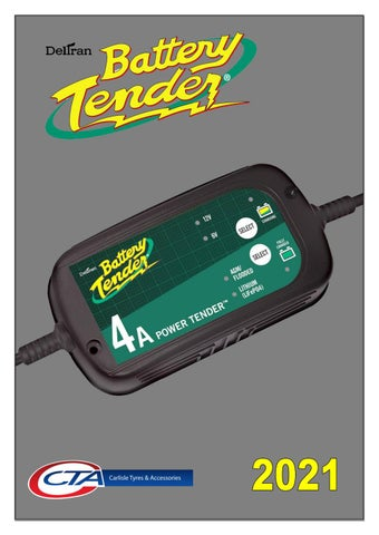 """Cover of """"BATTERY TENDER MOTORCYCLE CHARGERS & BATTERIES 2021"""""""