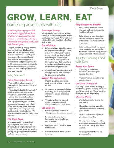 Page 20 of GROW, LEARN, EAT