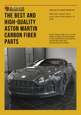 Looking For High Quality Aston Martin Carbon Fiber Parts By Exotic Carbon Fiber Issuu