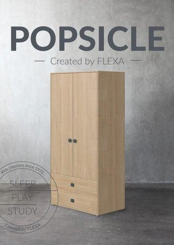 Flexa Greece. Κατάλογος «Popsicle» με παιδικά έπιπλα εσωτερικού χώρου