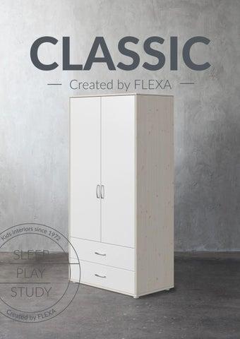 Flexa Greece. Κατάλογος με ντουλάπες «Classic» για παιδικά δωμάτια