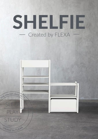 Flexa Greece. Κατάλογος «Shelfie» με προτάσεις για παιδικά έπιπλα