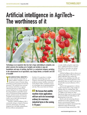 Artificial intelligence in AgriTechThe worthiness of it
