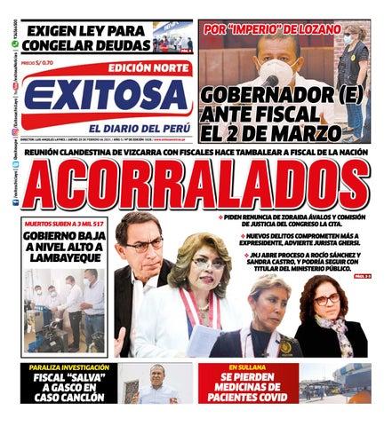 Diario Exitosa Norte (Jueves 25 de Febrero de 2021) by Diario Exitosa - issuu