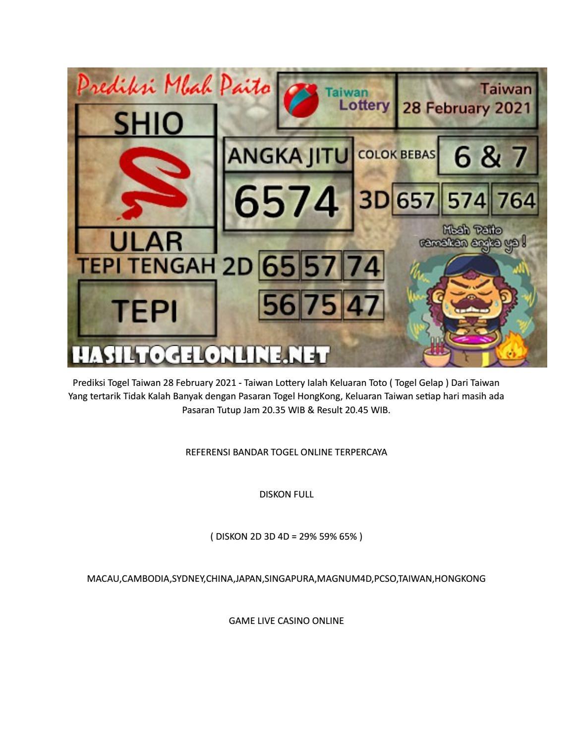 Result Taiwan Jayatogel