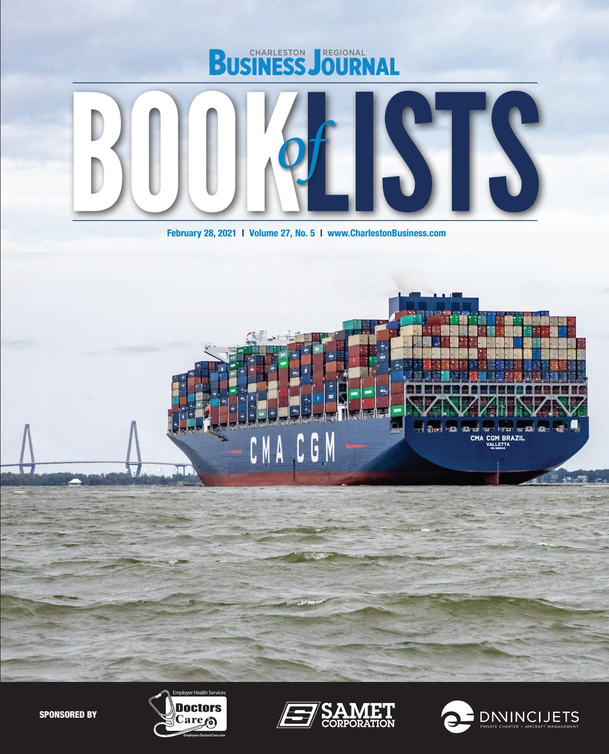2021 Charleston Regional Business Journal Book Of Lists By Sc Biz News Issuu