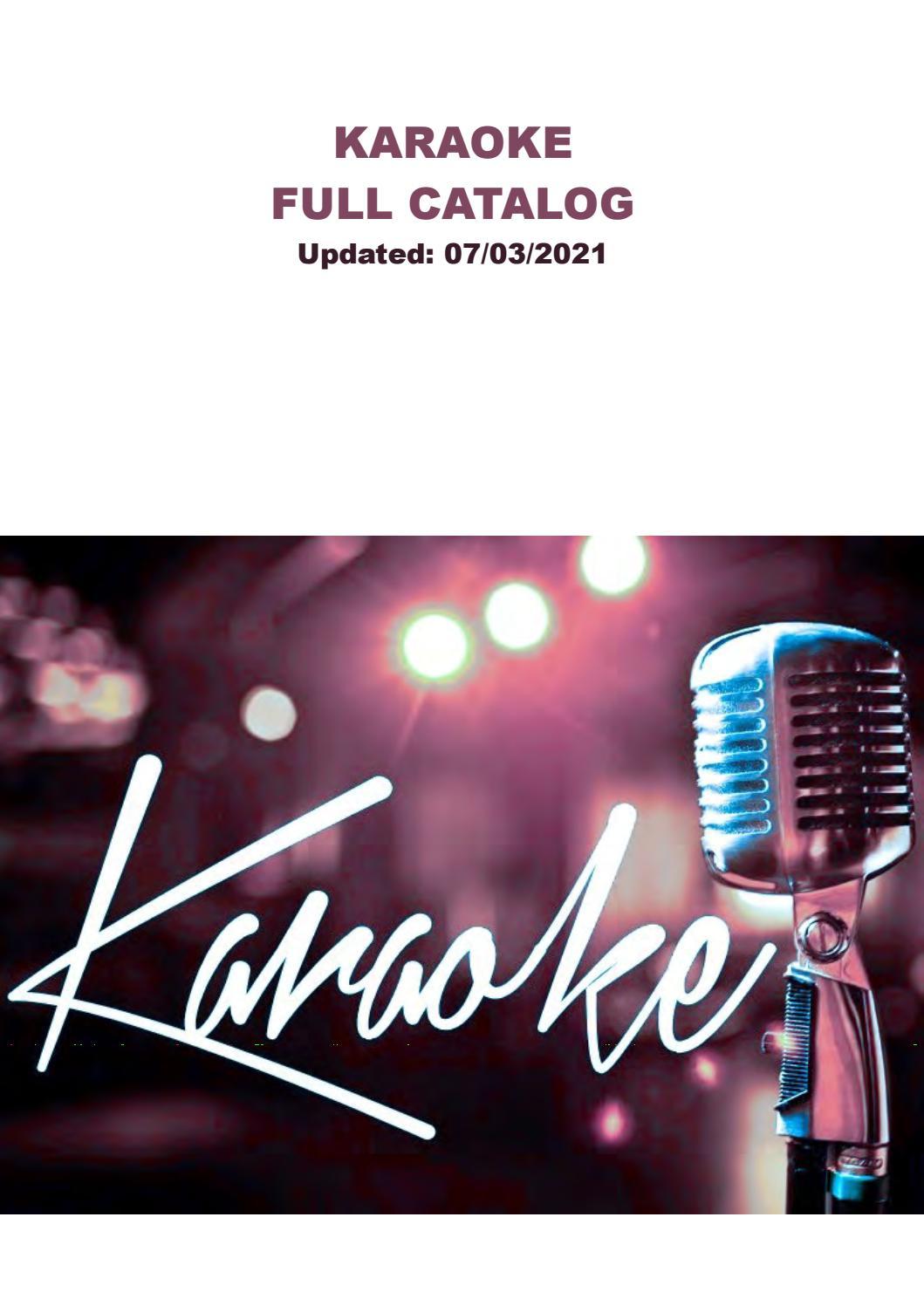 VCI Karaoke Catalog by passiontoys   issuu