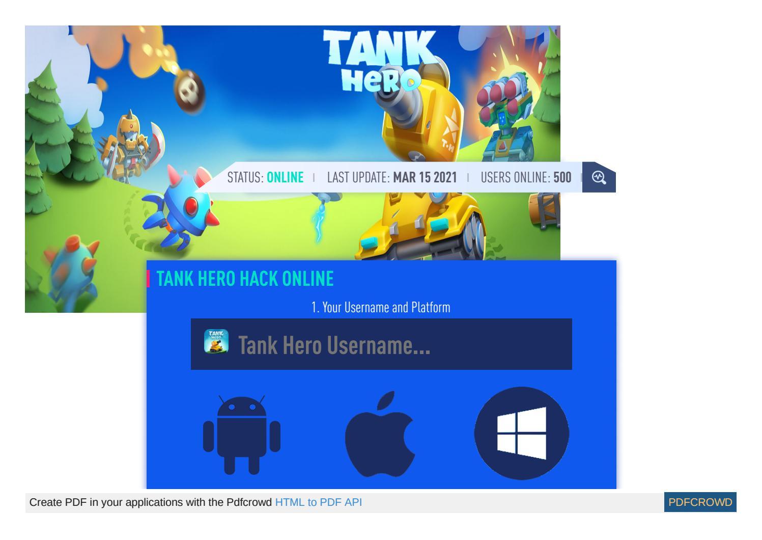 Tank Hero Hack – Tank Hero Cheat Diamonds and Coins by vicky fania - issuu