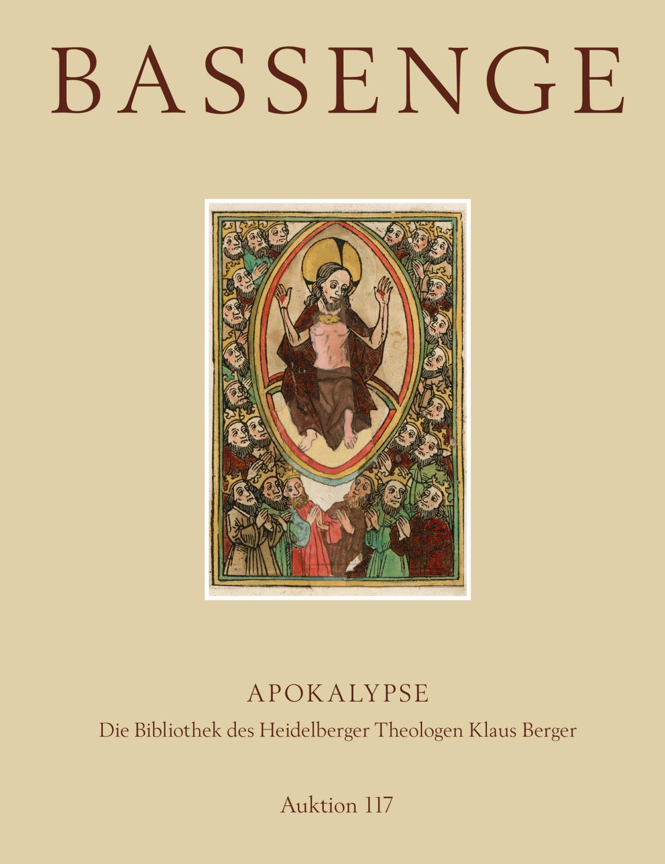 Bassenge Buchauktion 20 Apokalypse – Die Bibliothek des ...