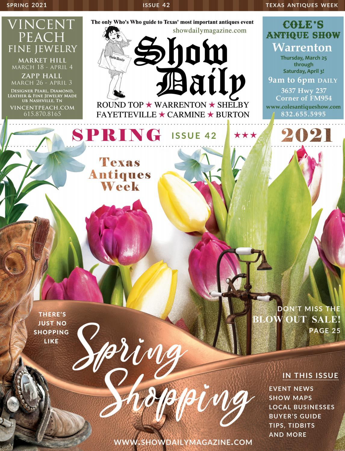 Christmas Roadshow Tour 2021 Texas Show Daily Spring 2021 Texas Antiques Week By Digital Publisher Issuu