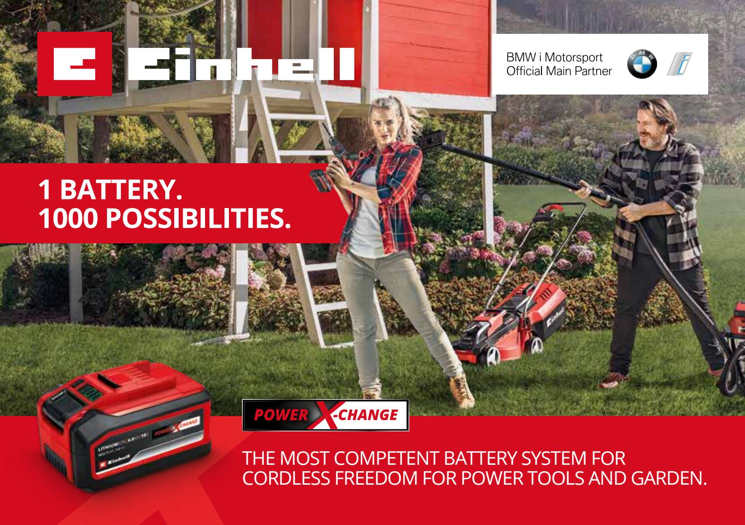 Supplied without Battery and Charger with Einhell 2.5Ah Power X-Change Starter Kit Battery /& Charger Einhell GE-CG 18 Li Solo Power X-Change Cordless Grass and Shrub shears
