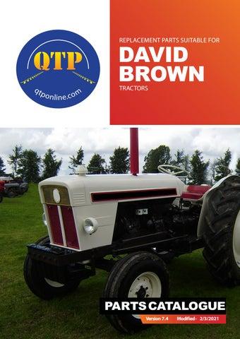 PAIR David Brown 770 780 850 880 885 Tractor Headlights Orange