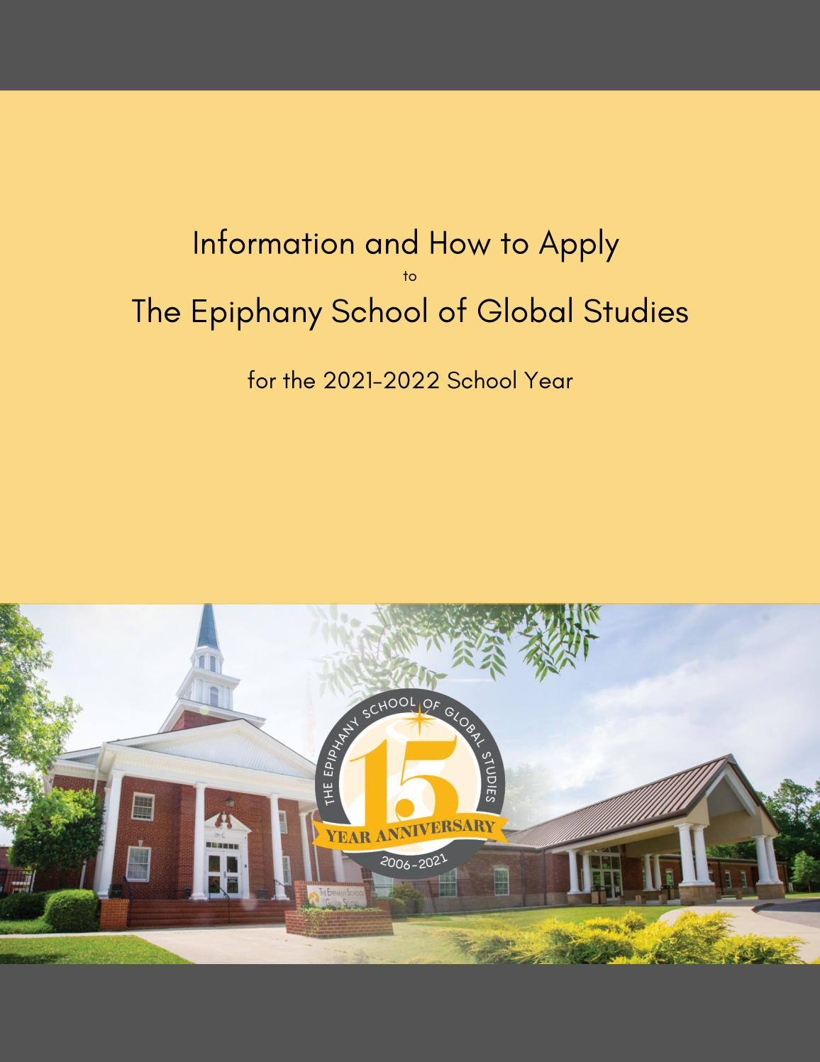 Unc Charlotte Academic Calendar 2022.21 22 Admissions Packet By The Epiphany School Of Global Studies Issuu