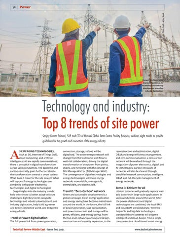 Technology and industry: Top 8 trends of site power