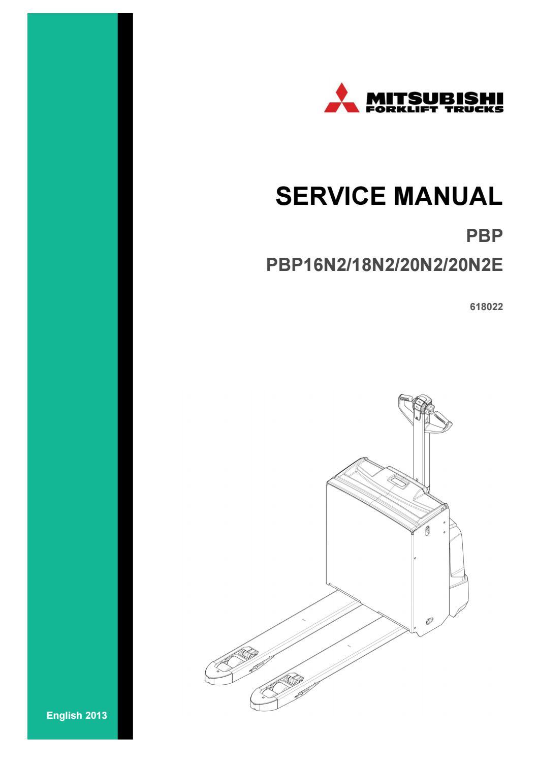 Mitsubishi Forklift PBP PBP16N2 18N2 20N2 20N2E Service Manual - PDF DOWNLOAD