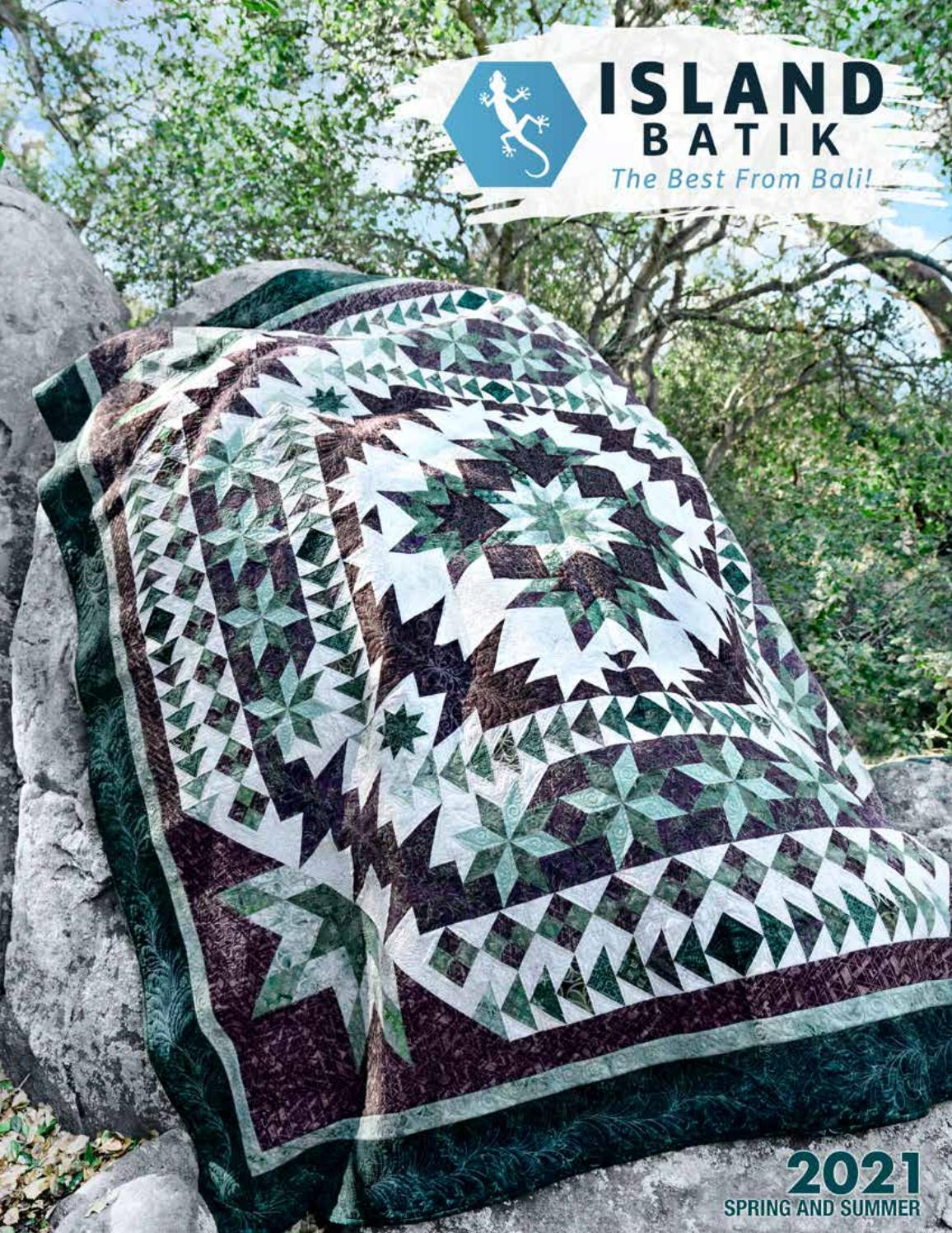 Island Batik Black Pearl Kelp Iris
