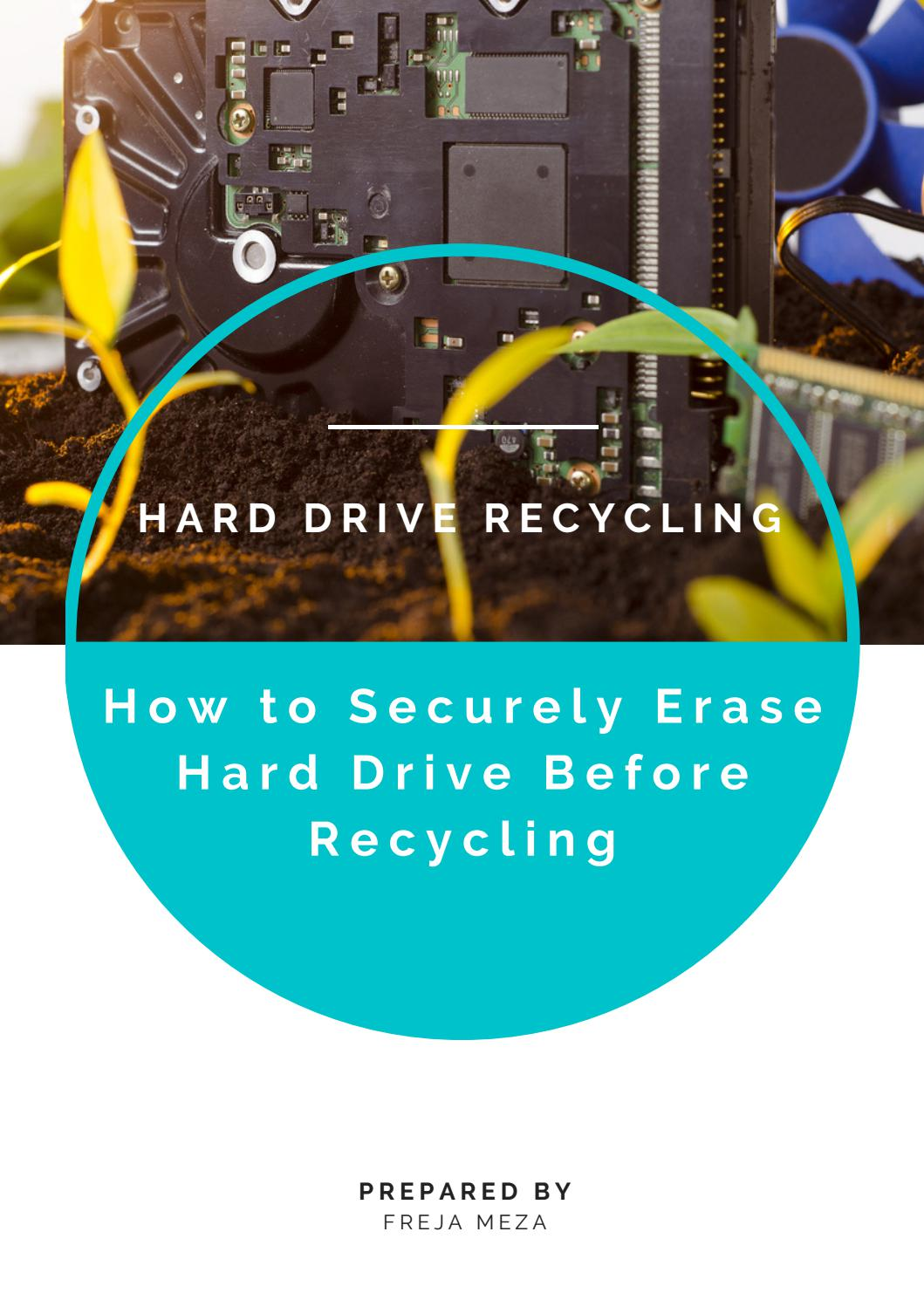 How to Securely Erase Hard Drive Before Recycling
