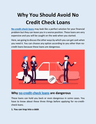 Why You Should Avoid No Credit Check Loans by fast loans no credit