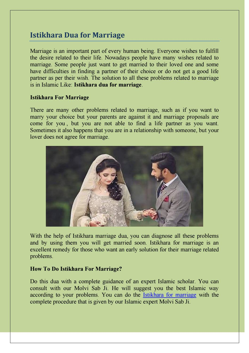 Someone dua for wanting to marry dua to