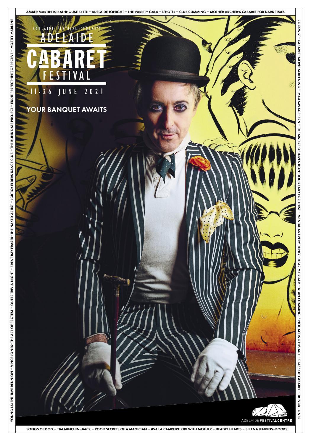 Adelaide Cabaret Festival 2021 Brochure page 1