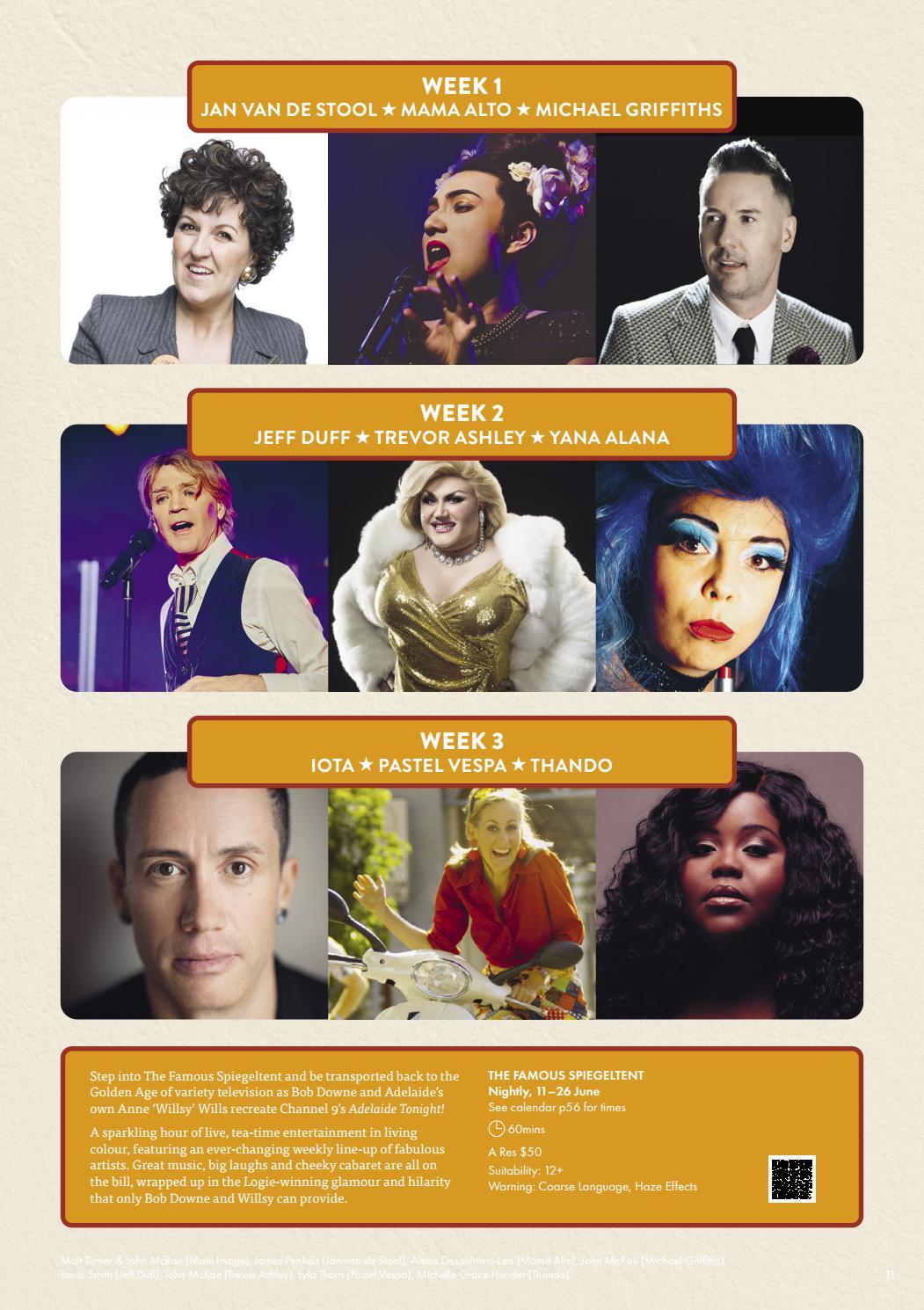 Adelaide Cabaret Festival 2021 Brochure page 11