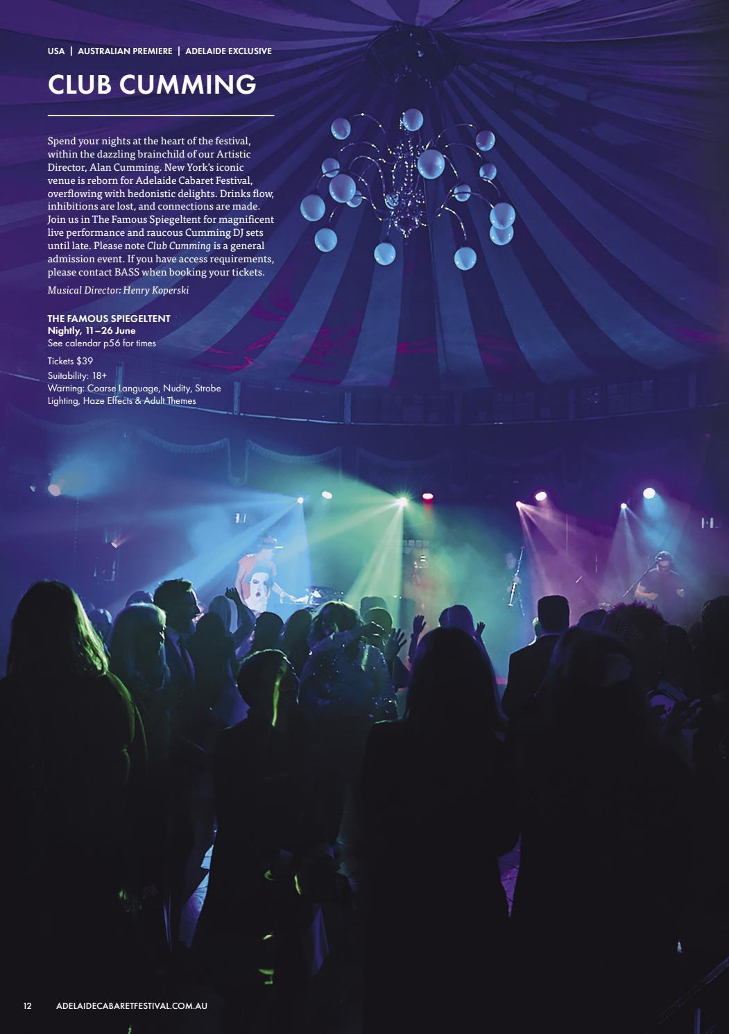 Adelaide Cabaret Festival 2021 Brochure page 12