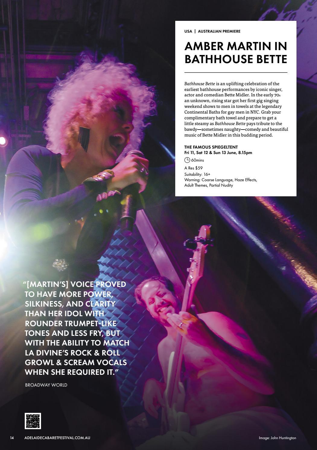 Adelaide Cabaret Festival 2021 Brochure page 14
