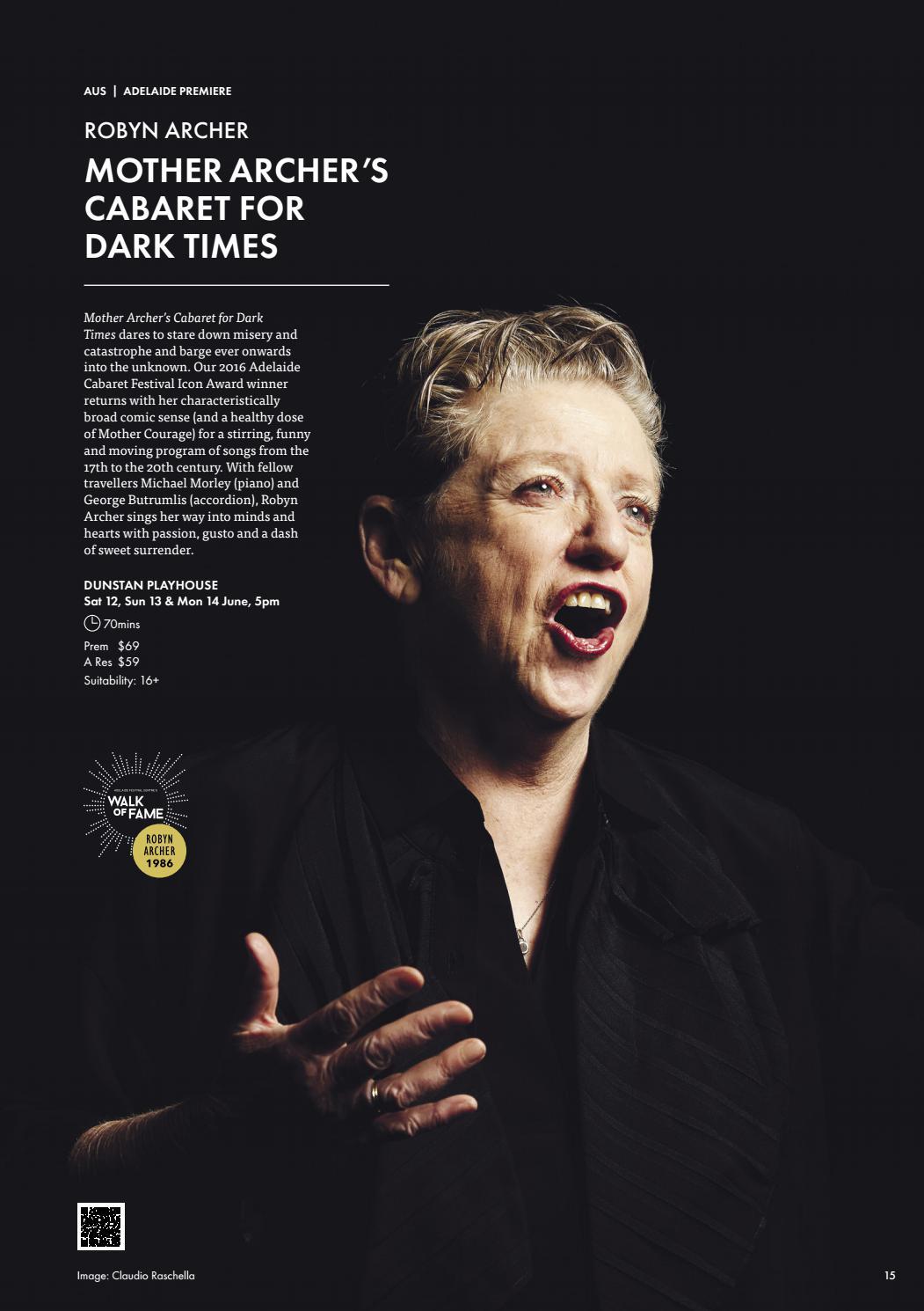 Adelaide Cabaret Festival 2021 Brochure page 15
