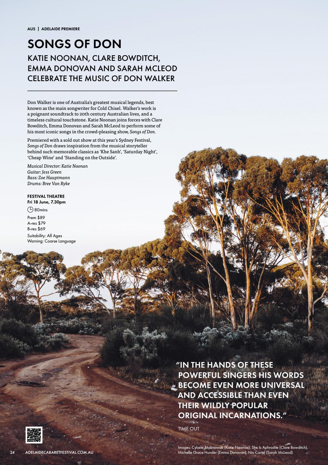 Adelaide Cabaret Festival 2021 Brochure page 24
