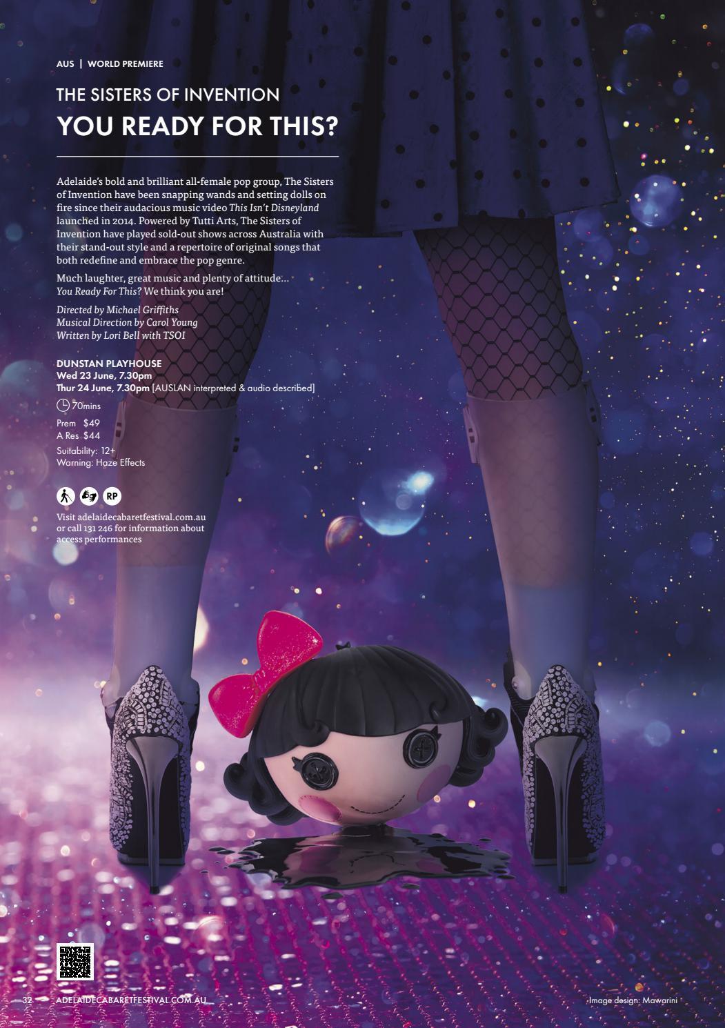 Adelaide Cabaret Festival 2021 Brochure page 32