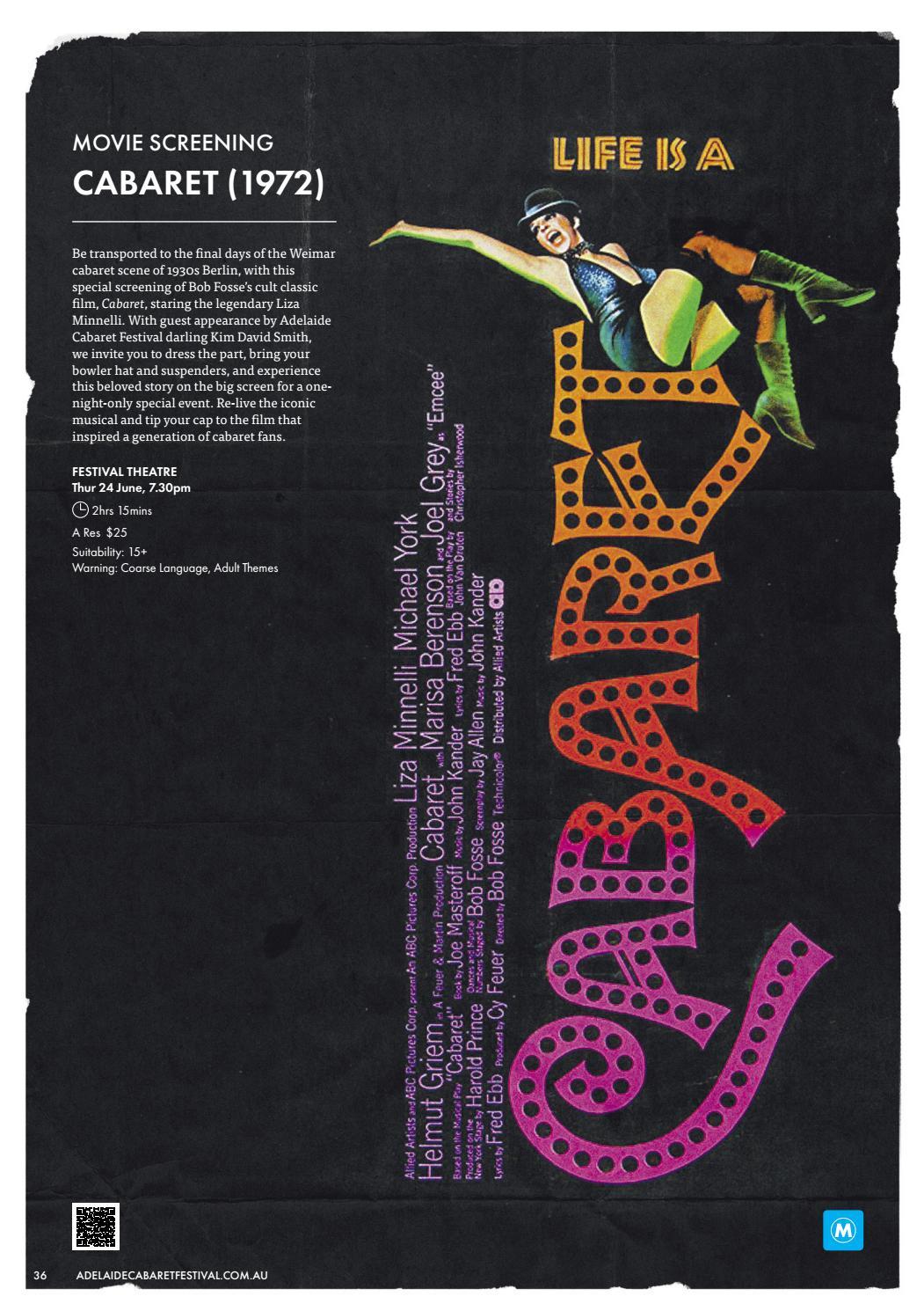Adelaide Cabaret Festival 2021 Brochure page 36
